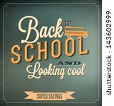 back to school typographic... | Shutterstock .eps vector #143602999