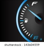 fuel gauge full | Shutterstock .eps vector #143604559