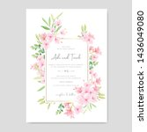 wedding floral cherry blossom... | Shutterstock .eps vector #1436049080