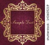 gold frame | Shutterstock .eps vector #143605219