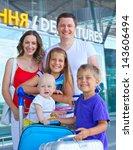 portrait of traveling family of ...   Shutterstock . vector #143606494