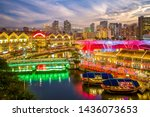 Aerial View Of Clarke Quay In...