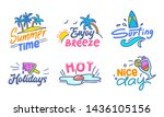 colorful typography with doodle ... | Shutterstock .eps vector #1436105156