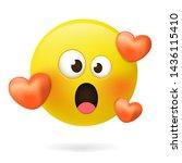 emoticons. emoji. loving emoji  ... | Shutterstock .eps vector #1436115410