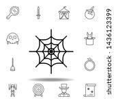 magic spider web outline icon....