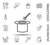 magic hat outline icon....