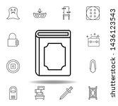 magic book outline icon....