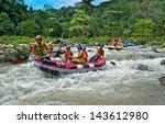 phang nga thailand dec 6 group... | Shutterstock . vector #143612980
