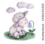 Cute Cartoon Watercolor Little...