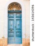 Blue Wooden Front Door To The...