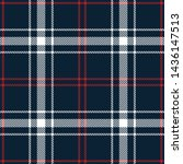 plaid pattern seamless vector... | Shutterstock .eps vector #1436147513