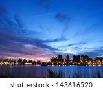city in twilight | Shutterstock . vector #143616520