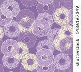 octagon. ethnic boho seamless... | Shutterstock .eps vector #1436167349