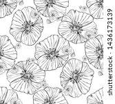 flower popies graphic design.... | Shutterstock .eps vector #1436173139