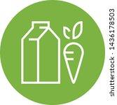 lacto vegetarian milk carrot...   Shutterstock .eps vector #1436178503