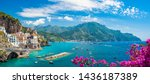 Landscape with atrani town at...