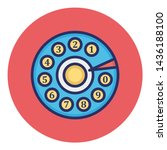 rotary dial isolated vector... | Shutterstock .eps vector #1436188100