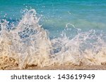 Splash Of Sea Wave On Coast