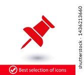 vector push pin icon  pushpin... | Shutterstock .eps vector #1436213660