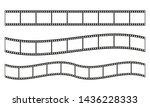 film strip frame or border set. ... | Shutterstock . vector #1436228333