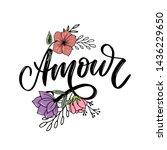 amour. vector handwritten... | Shutterstock .eps vector #1436229650