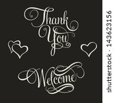 collection of hand lettering ... | Shutterstock .eps vector #143623156