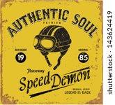 vintage motorbike race   hand... | Shutterstock .eps vector #143624419