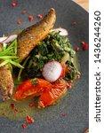 close up of fried mackerel fish ...   Shutterstock . vector #1436244260