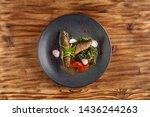 fried mackerel fish with...   Shutterstock . vector #1436244263