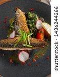 close up of fried mackerel fish ...   Shutterstock . vector #1436244266