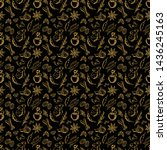 seamless pattern with spices on ...   Shutterstock .eps vector #1436245163