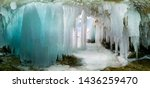 blue ice cave grotto on olkhon... | Shutterstock . vector #1436259470