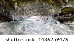 ice cave grotto on olkhon... | Shutterstock . vector #1436259476