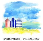 Beach Huts By The Sea ...