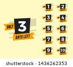 number of days left with orange ...   Shutterstock .eps vector #1436262353