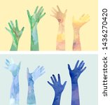 voting hand silhouettes in...   Shutterstock .eps vector #1436270420