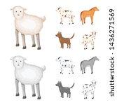 vector illustration of breeding ... | Shutterstock .eps vector #1436271569