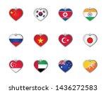 set of heart shape national...   Shutterstock .eps vector #1436272583
