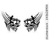 black tribal element | Shutterstock .eps vector #143628904