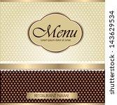 menu for restaurant   Shutterstock .eps vector #143629534