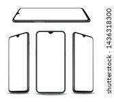 smartphone mockup vector new... | Shutterstock .eps vector #1436318300