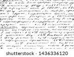 grunge texture of handwritten... | Shutterstock .eps vector #1436336120