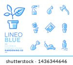 lineo blue   gardening and... | Shutterstock .eps vector #1436344646