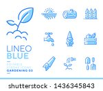lineo blue   gardening and... | Shutterstock .eps vector #1436345843