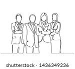 continuous line drawing of... | Shutterstock .eps vector #1436349236