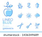 lineo blue   gardening and... | Shutterstock .eps vector #1436349689