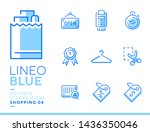 lineo blue   shopping and e... | Shutterstock .eps vector #1436350046