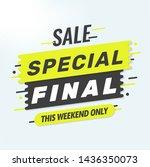 special offer banner.final sale ...   Shutterstock .eps vector #1436350073