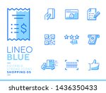 lineo blue   shopping and e...   Shutterstock .eps vector #1436350433