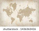 Vintage World Map On Old...